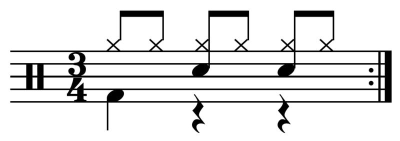 battuta ritmo musicale