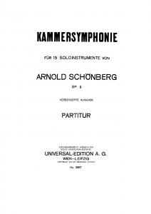 kammersymphonie schoemberg