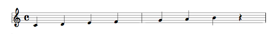 pentagramma musicale singolo