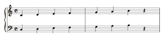 pentagramma pianoforte