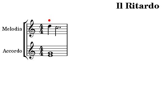 ritardo melodia armonia