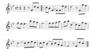 spartito musicale notazione