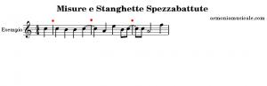 stanghette misure musicali